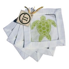 I pinned this Sea Turtle Cocktail Napkin in Green (Set of 8) from the A Seaside Soiree event at Joss and Main!