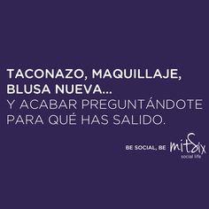 Chicas vosotras lo entenderéis... Con MitSix no perderéis el tiempo ninguna noche más. ¡Atrevéos! BE SOCIAL, BE MITSIX! #noche #maquillaje #tacones #guapas #chicas #mitsix #copas #madrid #españa