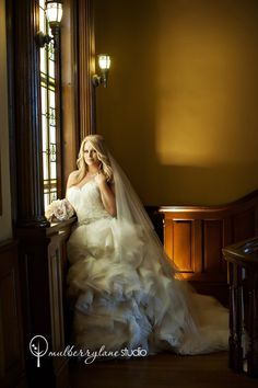 Mulberry Lane Studio - 	Fort Worth Photographers - Dramatic lighting for wedding day bridal portraits