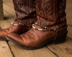 Brass and Copper with Pearls Adjustable Western by sugartreecreek, $49.00
