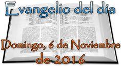 Gospel of the day (Sunday, November 6, 2016)