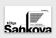 Business card for the archi 34 Architects Business Card Designs