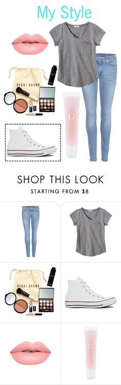 """I'm Only Human"" by dance1123 on Polyvore featuring 7 For All Mankind, Bobbi Brown Cosmetics, Converse, Lime Crime and Lancôme"