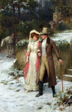"George Sheridan Knowles (english, 1863-1931) - ""Safe at Last"" by Victorian British Painting"