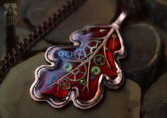 Листики-кулоны, латунь и медь творчество, своими руками, стимпанк, листья, украшения, осень, длиннопост