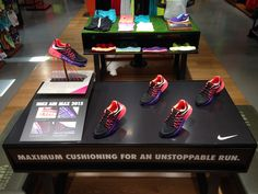 Nike Air Max 2015 retail table display sports shoe display.