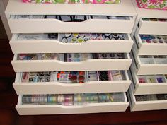 IKEA drawer system, the Alex unit, well organized - thanks Caprice
