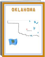 Thematic Unit - Okalahoma - Each state thematic unit is 13 pages. They offer information about the following: history, Capital, flag, tree, bird, flower, size, location, climate, topography, industry, natural resources, waterways  The following pages are also included: questions, word unscramble, spelling, state map, add your own information, answers