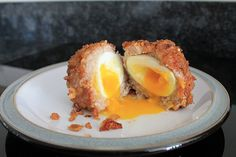 Smokey Scotch Egg with a Pork Scratching Crust