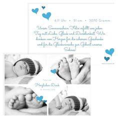 Die wunderschöne Geburtskarte oder auch Dankeskarte genannt ist im Postkartenformat gestaltet. Mit süßen Herzen auf der Vorderseite und Rückseite ein absoluter Hingucker. #classycards #geburtskarten #babykarten #dankeskarten #baby #geburt Designs, Poster, Baby Delivery, Thanks Card, Cordial, Gifts, Nice Asses, Movie Posters