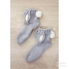 #pupusukat #bunnysocks #knitting #knittedsocks