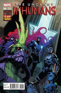 Uncanny Inhumans 0 ( 50 Years Of Inhumans Variant )