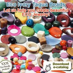 Eco #Ivory #TaguaBeads. #Tagua is versatile for making decorative figures. #Buttons for the fashion industry, well as #Beads for making #Jewelry. Buy your bundle of Tagua Beads here >> http://bit.ly/1RcTnUb - MAKE YOUR OWN JEWELRY.