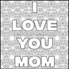 Mother's Day Coloring Pages #1