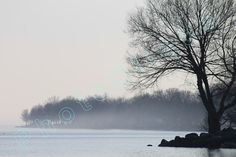Evening Mist (on Lake Ontario) / Serene WATERSCAPE Scene / Signed High Res Giclée Print / Original Color LANDSCAPE PHOTOGRAPHY by PhotoClique