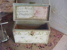 12th scale shabby chic chest by shabbychicminis on Etsy, $28.99