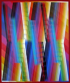 Ed Mieczkowski (b1929) produces optically complex paintings and drawings that reveal the malleability of perception. He investigates the visual and psychological resonance of shapes, patterns, and colors.