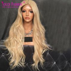 196.59$ Buy here - http://ali6h6.worldwells.pw/go.php?t=32641561352 - 10A #613 Blonde Color Human Hair Lace Front Wigs Brazilian Unprocessed Wavy Virgin Lace Front Wig With Baby Hair 150% Density 196.59$