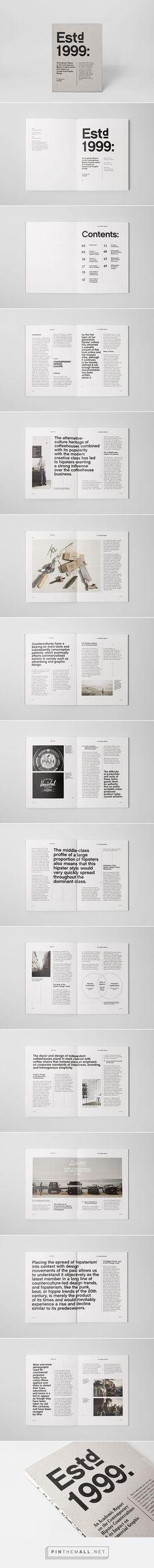 Estd 1999: An Academic Report by Sidney Lim YX: