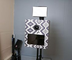 DIY Photo Booth with $10 Cardboard Shell and wifi printing and sharing
