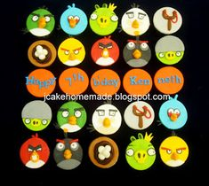 Happy birthday Kenneth Thanks Mrs Khoo for order. hand made Angry Bird character;- Angriest bird, Chuck, Bomb, Maltilda, Th. December 11, The 5th Of November, July 4th, Abc Kids Tv, Angry Birds Characters, Angry Birds Cupcakes, Postman Pat, Happy 7th Birthday, Candy House