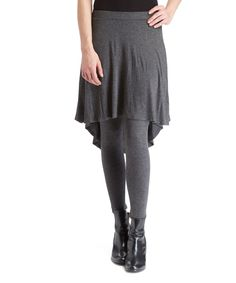 Look at this Bellino Gray Hi-Low Skirted Leggings on #zulily today!