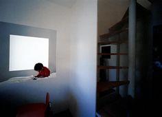 Plum Grove House, SANAA, 'first floor view of girl's bedroom and stairwell' House Tokyo, Ryue Nishizawa, Japanese Architecture, Girls Bedroom, Plum, Floor, School, Google, Architecture