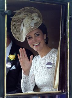 Her style is modern, but she can still carry off the traditional fascinator-type  royal hats
