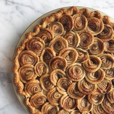 Has everyone moved on to holiday cookies? I'm still in pie mode. Cinnamon Swirl Apple Pie adapted from slab to circular shape. Cinnamon Roll Apple Pie, Apple Slab Pie, Apple Recipes, Sweet Recipes, Snack Recipes, Dessert Recipes, Snacks, Grandma Pie, Pillsbury Cinnamon Rolls