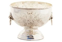 Silver-Plated Hand-Chased English Bowl