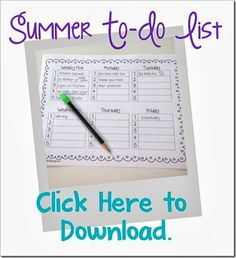 Summer To Do List {free download}