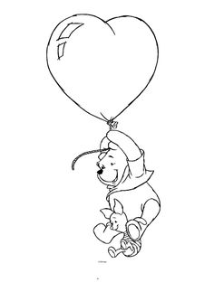 coloring page Winnie the Pooh on Kids-n-Fun. Coloring pages of Winnie the Pooh on Kids-n-Fun. More than coloring pages. At Kids-n-Fun you will always find the nicest coloring pages first! Disney Winnie The Pooh, Winnie The Pooh Tattoos, Winnie The Pooh Drawing, Winnie The Pooh Pictures, Winnie The Pooh Friends, Valentine Coloring Pages, Bear Coloring Pages, Cool Coloring Pages, Disney Coloring Pages