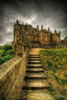 Castle in Derbyshire, England. To walk up those stairs...