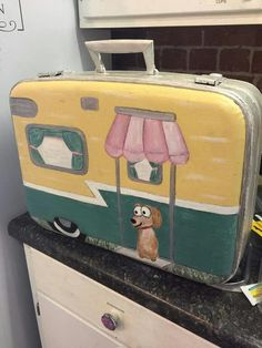 Painted suitcase                                                                                                                                                                                 More