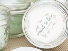 Make these as a party favor for a bridal shower or give as a gift! Free printable included!