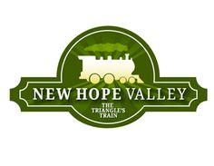 Logo for New Hope Valley Railway - North Carolina Triangle's train.