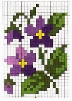 cross stitch pattern, little flowers Mini Cross Stitch, Cross Stitch Cards, Cross Stitch Flowers, Cross Stitching, Cross Stitch Embroidery, Embroidery Patterns, Cross Stitch Designs, Cross Stitch Patterns, Modele Pixel Art