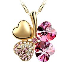Swarovski Lucky Pendant Necklace 18K Gold – Love & Gifts