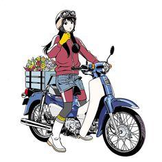 江口寿史 EGUCHI HISASHIさんはInstagramを利用しています:「Jan.2018 #illustration #artwork #manga #bandedessinee #comicart #honda #hondasupercub #motorcycle」