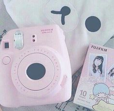 Kawaii camera you have an instax camera Polaroid? Mode Kawaii, Kawaii Shop, Kawaii Cute, Kawaii Stuff, Kawaii Things, Instax Camera, Fujifilm Instax Mini, Fuji Instax, Polaroid Camera