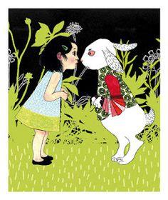 Alice in Wonderland: Une toute petite Alice by Ilya Green (white rabbit)