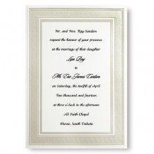 Classic Pearl Border Wedding Invitations