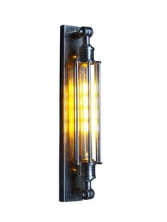 The Industrial Antique Silver Tube and Bulb Wall Light is the ultimate in industrial styling. The long narrow shape ensures this light can fit in any space. A statement wall light that would really make an impact against a coloured wall or headboard. The metal elements of the light add interest and texture to the decor.