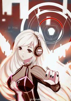Anime girl with headphone Anime Chibi, Kawaii Anime, Manga Anime, Anime Art, Nikki Love, Girl With Headphones, Beautiful Anime Girl, Anime Love, Design Comics