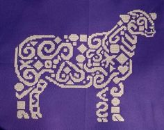 Tribal Sheep - Cross Stitch Pattern