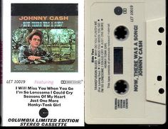Johnny Cash - Now There Was A Song! - Play Tested - Cassette Album.