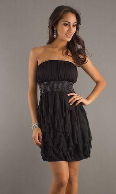 Best Red Dress : Short Strapless Black Dress