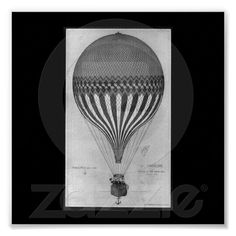Poster-Vintage Art-Hot Air Balloons 3