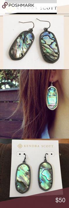 ☃️KS Abalone gunmetal earrings 100% authentic Kendra Scott abalone gunmetal earrings. Brand new. Kendra Scott Jewelry Earrings