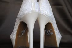 I Do Shoe Stickers Clear Rhinestone I Do Wedding Shoe Appliques - Rhinestone I Do Shoe Decals for your Bridal Shoes. $4.49, via Etsy.